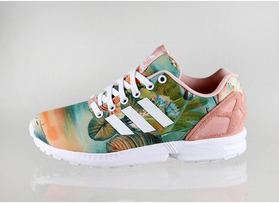 sports shoes bf8ca 43c49 adidas ZX FLUX W (Dust Pink / Running White / Dust Pink ...