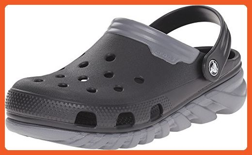 Crocs Unisex Duet Max Clog, White/Black, 8 M US Men/10 M US Women