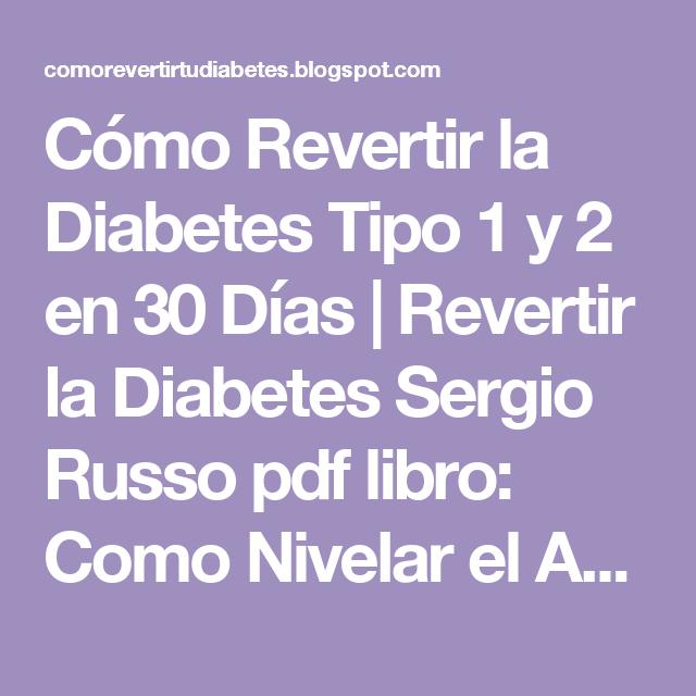 que es la diabetes tipo 1 y 2 pdf