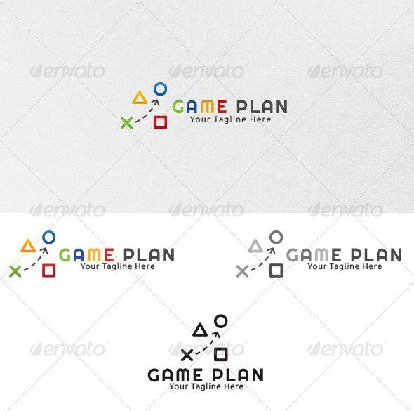 Game Plan - Logo Template | Logo templates, Template and Logos