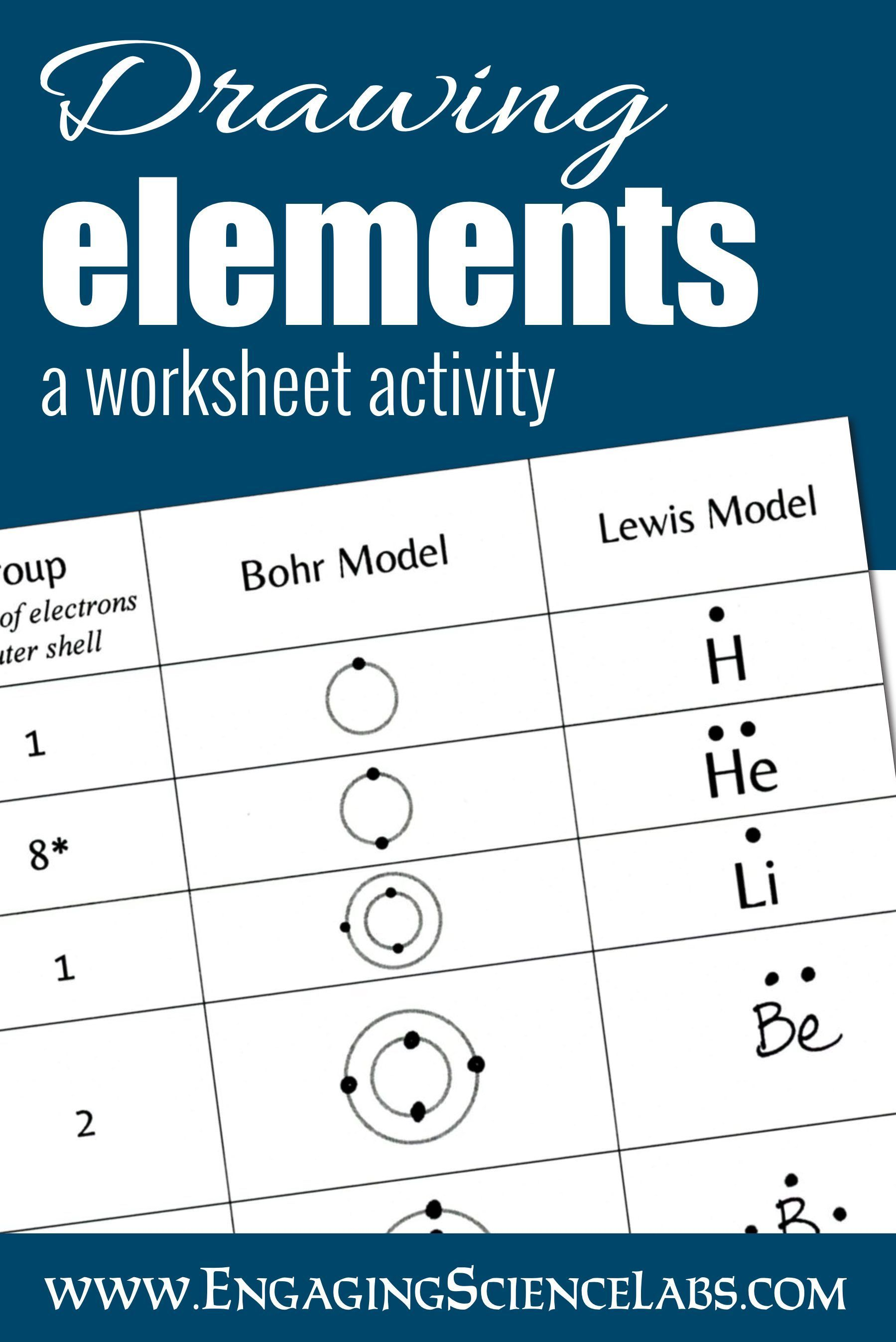 Diagramming Atoms Constructing Lewis And Bohr Models Printable Worksheets Handson Science Labs In 2020 Teaching Middle School Science Chemistry Activities Middle School Science Experiments