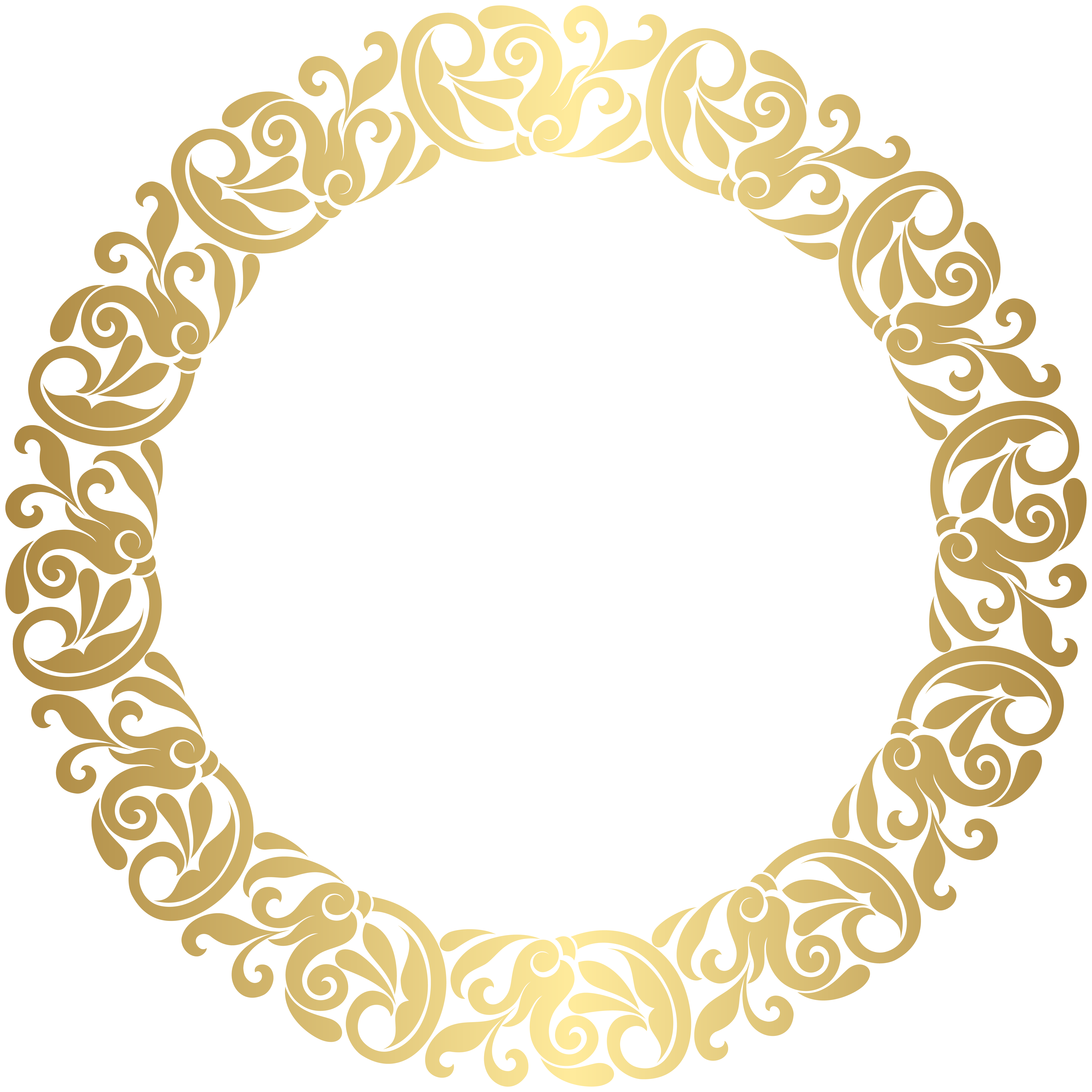 Gold Round Border Frame Png Clip Art Gallery Yopriceville High Quality Images And Transparent Png Free Gold Picture Frames Gold Circle Frames Round Border