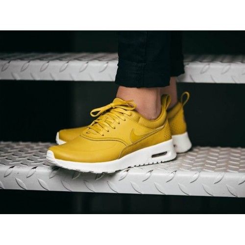 Discount Nike Air Max Thea Mustard Yellow Womens Shoes