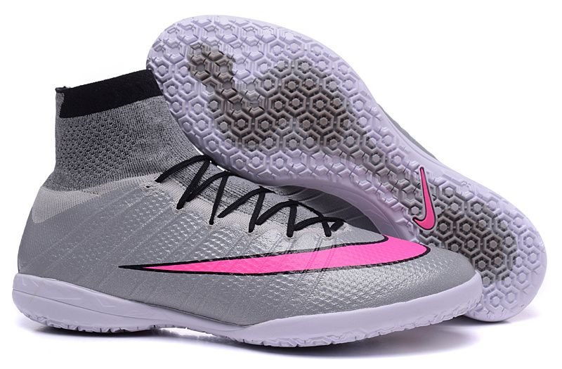 Nike MercurialX Proximo Street 2015 Indoor High tops Soccer Shoes silver  pink black $ 99.99