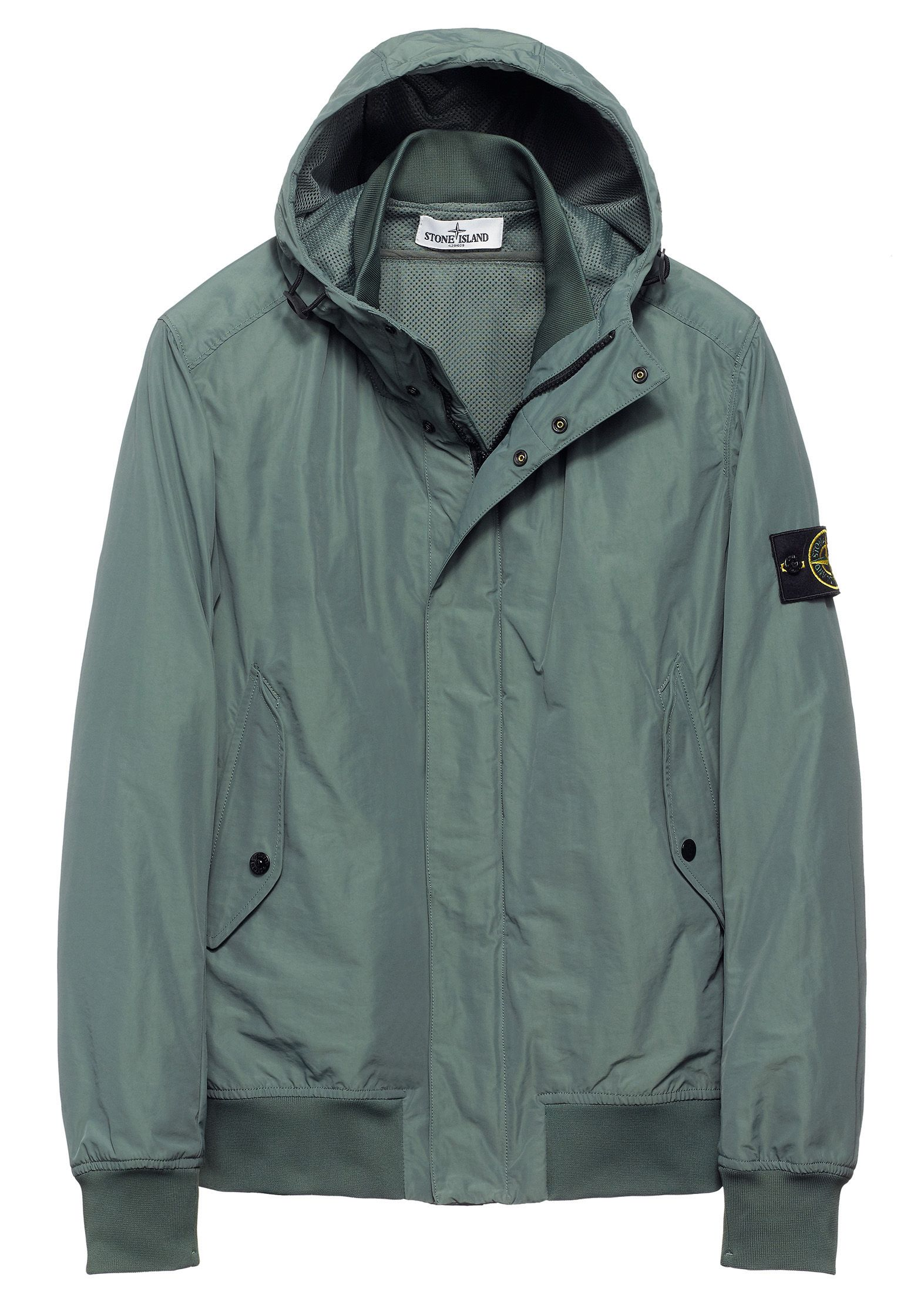 40822 MICRO REPS Hooded bomber jacket in a military ...