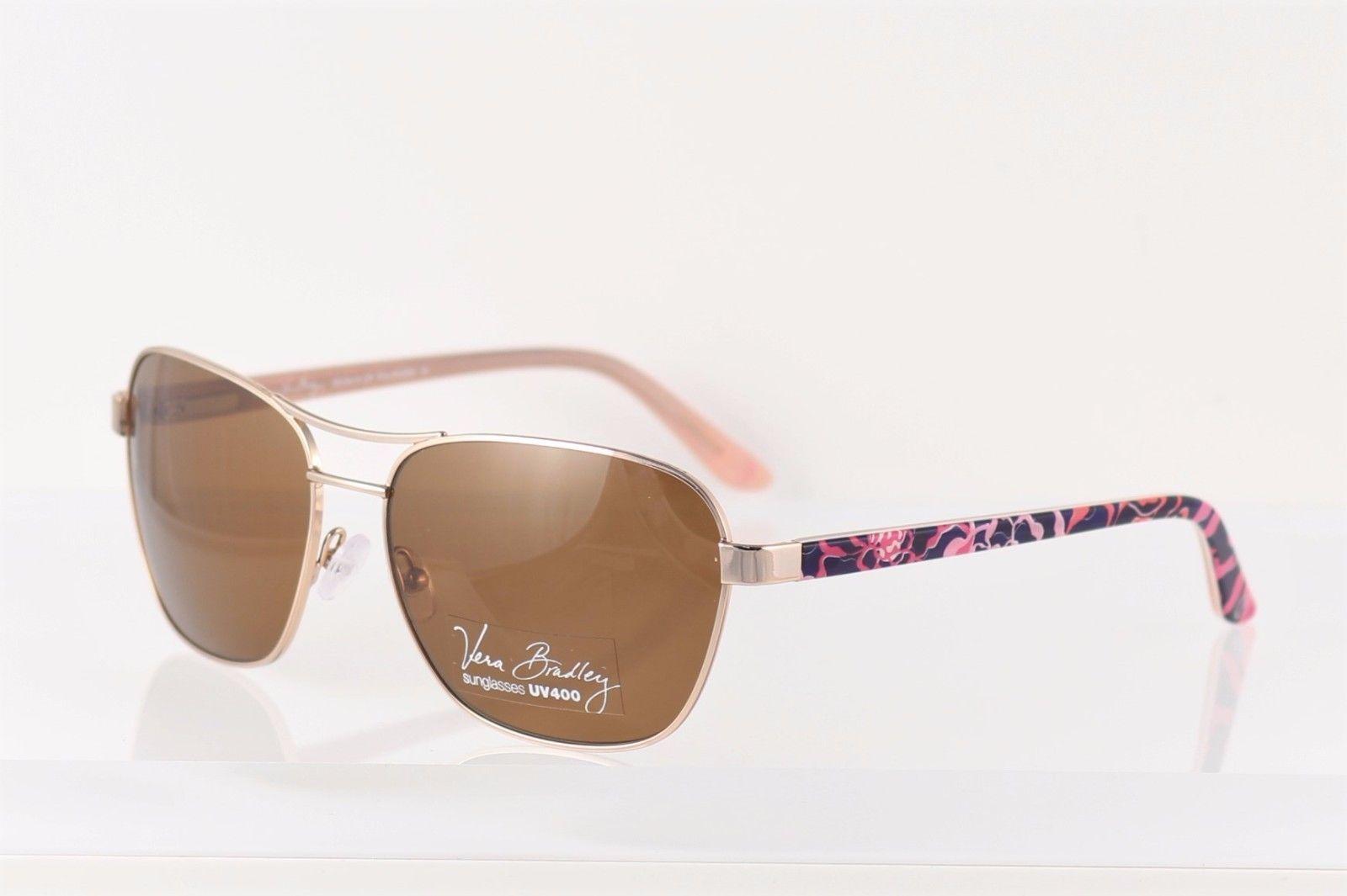 f0a63b0de34 Polarized Gold Vera Bradley Sunglasses Kim H Katalina Pink Case Retail  130+