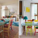 cadeiras diferentes sala de jantar 4