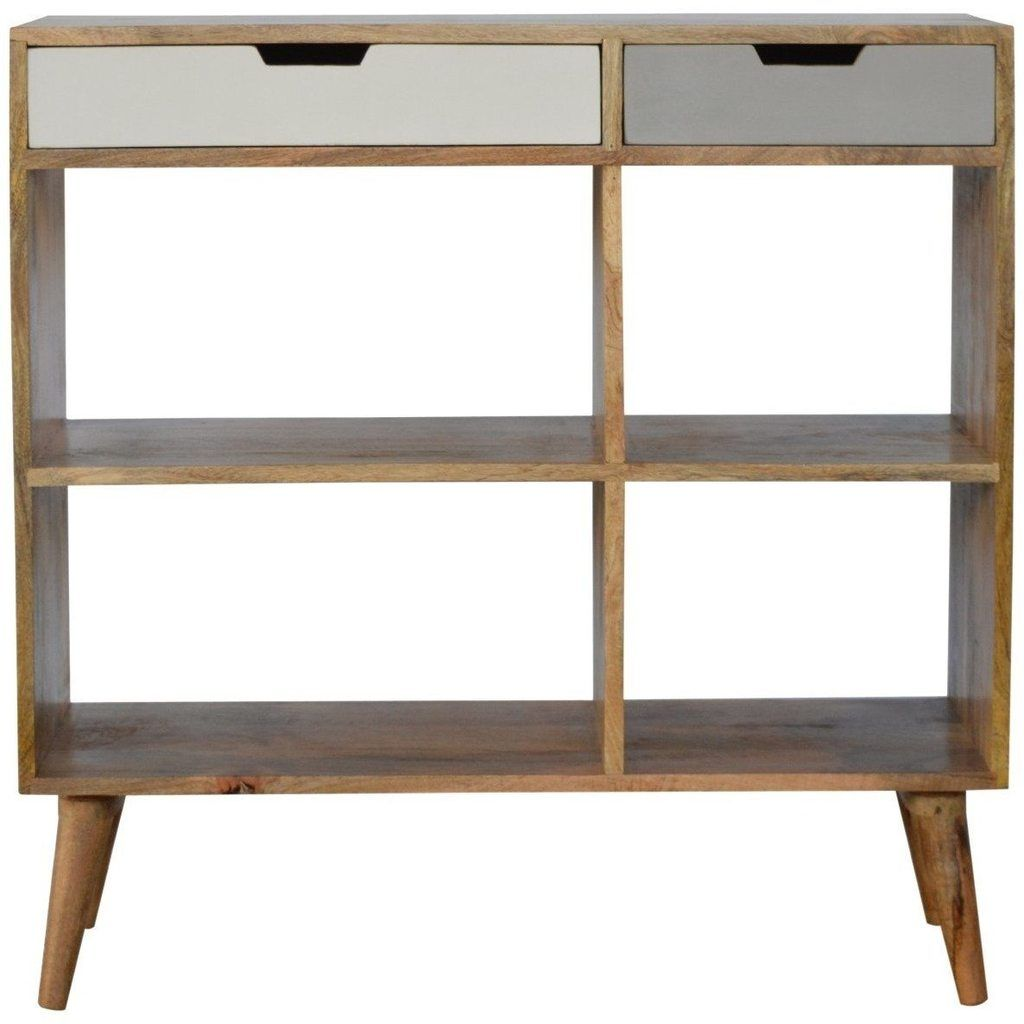 Scandinavian 2 Drawer Bookcase Low Bookcase Bookcase Living