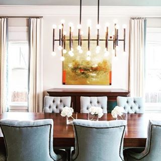 Lovely Dining Room Vignette From Laurauinteriordesign Featuring Our Meurice Chandelier Designed In Collaboration With
