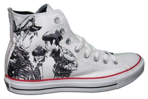 New Gorillaz Converse Shoes | Gorillaz converse, Black shoes