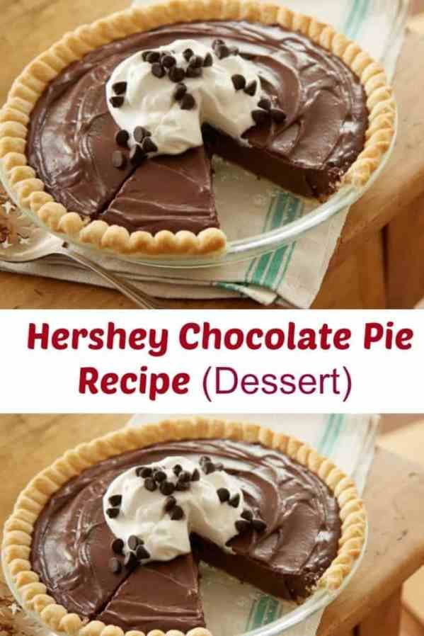 Hershey's Chocolate Pie Recipe Dessert #easypierecipes