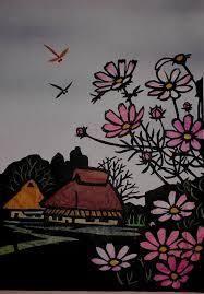 秋の風景切り絵 の画像検索結果 切り絵 秋の風景 切り絵 図案