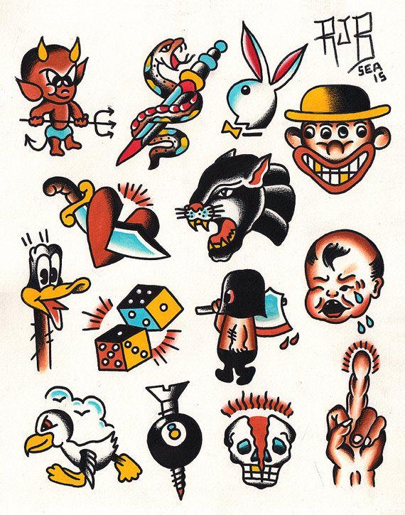 Tattoo Designs Print Traditional Tattoo Flash Free Stickers Traditional Tattoo Flash Art Tattoo Flash Art Old School Tattoo Designs
