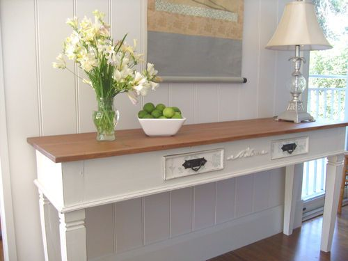 separation shoes 5aaf6 c6c64 White Hamptons French Provincial Hall Console Table Laura ...