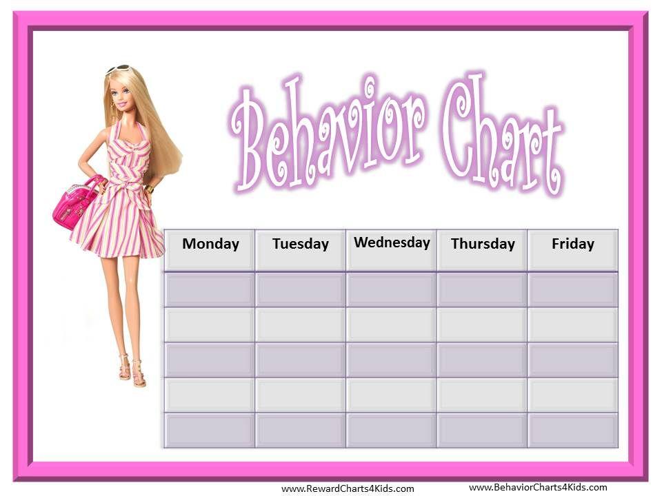 Behavior  Barbie Behavior Chart  Learning