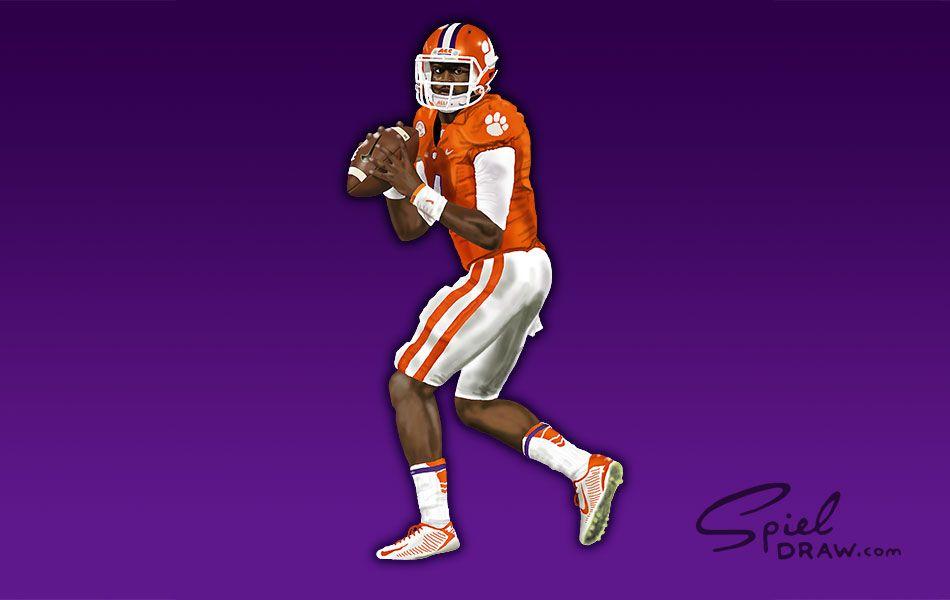 Custom Digital Illustrations Spieldraw Com Tigers 4 Clemson Tigers Football Clemson Athletics Clemson Football
