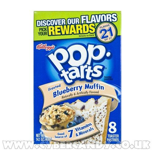 Kelloggs Pop Tarts Frosted Blueberry