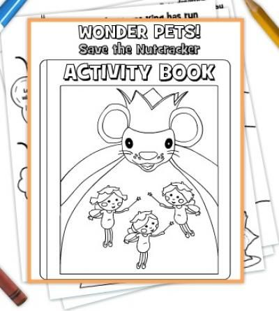 wonder pets save the nutcracker free printables wonder petswinter craftchristmas activitieskid - Kids Activity Book Printable