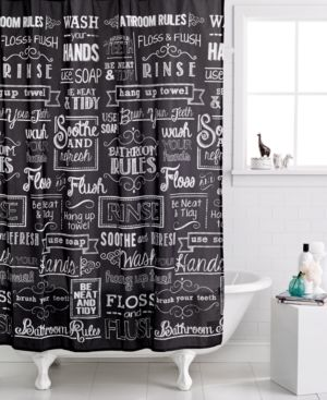 Avanti Chalk It Up Shower Curtain Bedding Bathroom Styling