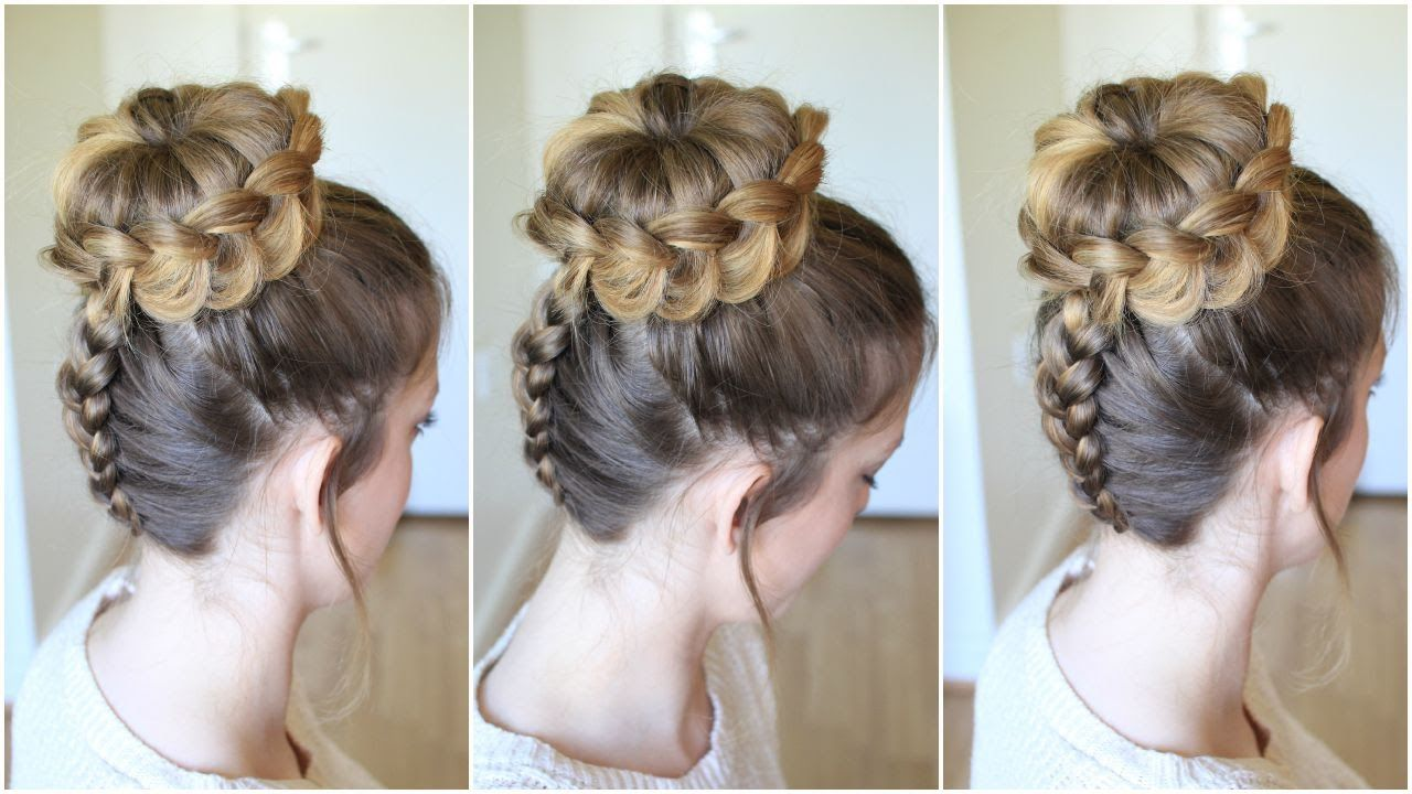Upside down Braided Lace Bun   Bun Updo Hairstyles