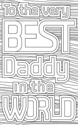 Free Printable: Fathers' Day Card Colouring Sheets