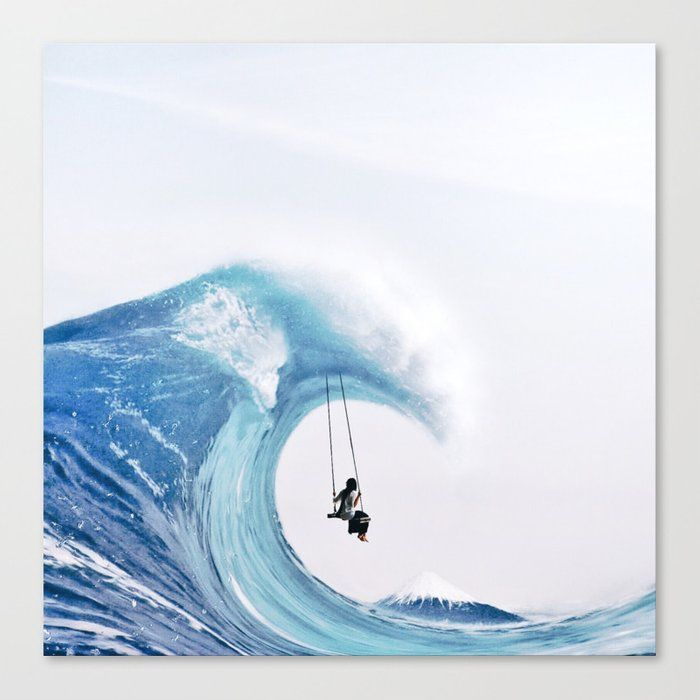 The Great Wave Canvas Print by Luisa Azevedo - Medium