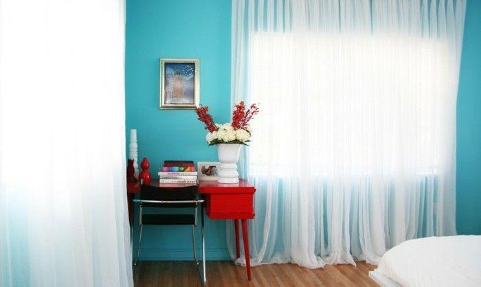 Schlafzimmer Wandfarbe Ideen in 140 Fotos! - gardinen fürs schlafzimmer