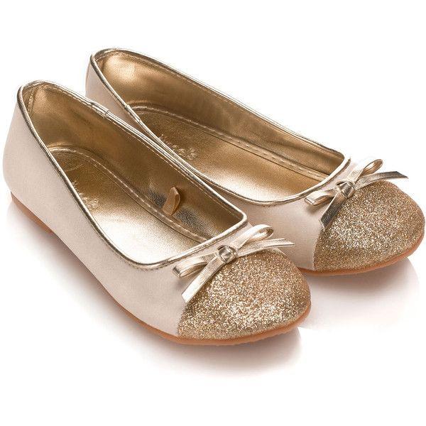 Accessorize Glitter Toe Cap Ballerina