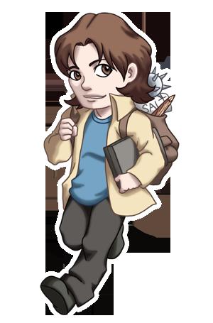 Chibi Sam Winchester By Twinenigma Deviantart Com On Deviantart Chibi Supernatural Cartoon Supernatural Fan Art