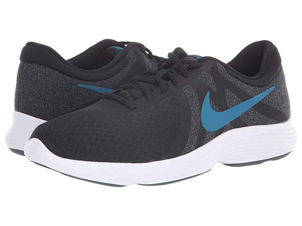 Pertenecer a algodón hijo  Nike Revolution 4 Men's Running Shoes Black/Green Abyss/Dark Grey/White |  Nike, Black running shoes, Sneakers