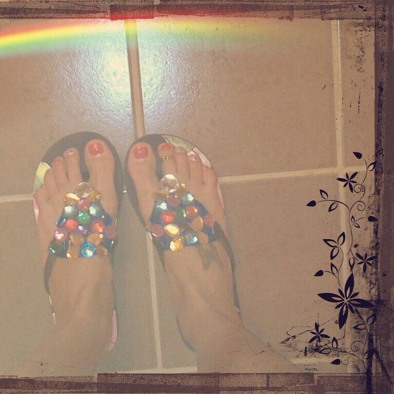 Summer gems sandals