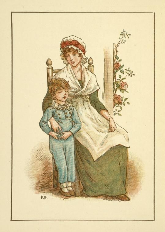 September - Kate Greenaway's Almanack for 1895