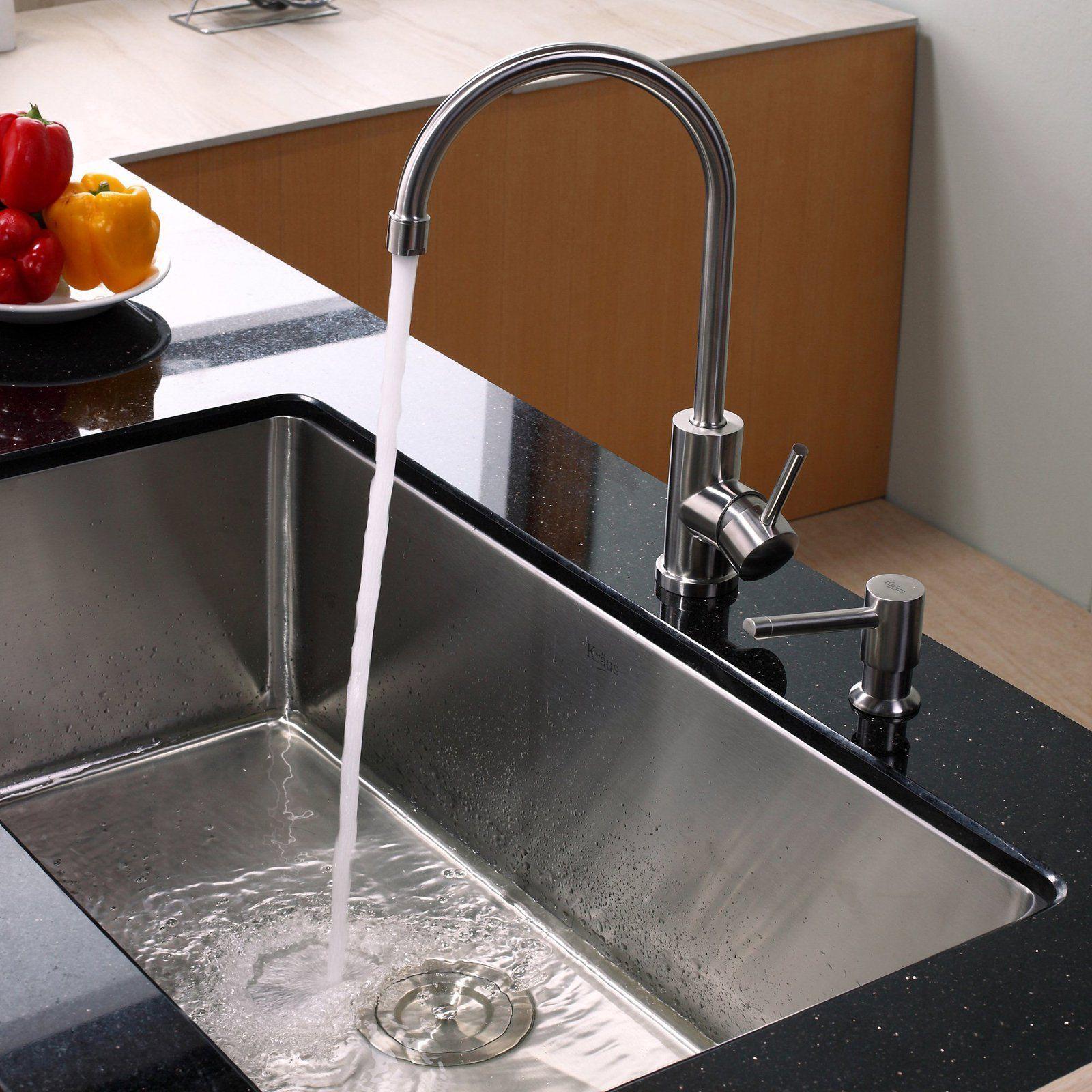 Kraus Khu100 32 Kpf2160 Sd20 Single Basin Undermount Kitchen Sink