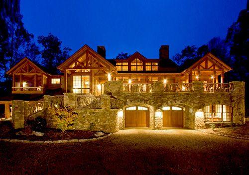 Elegant rustic mountain home balsam mountain preserve for Rustic elegant homes