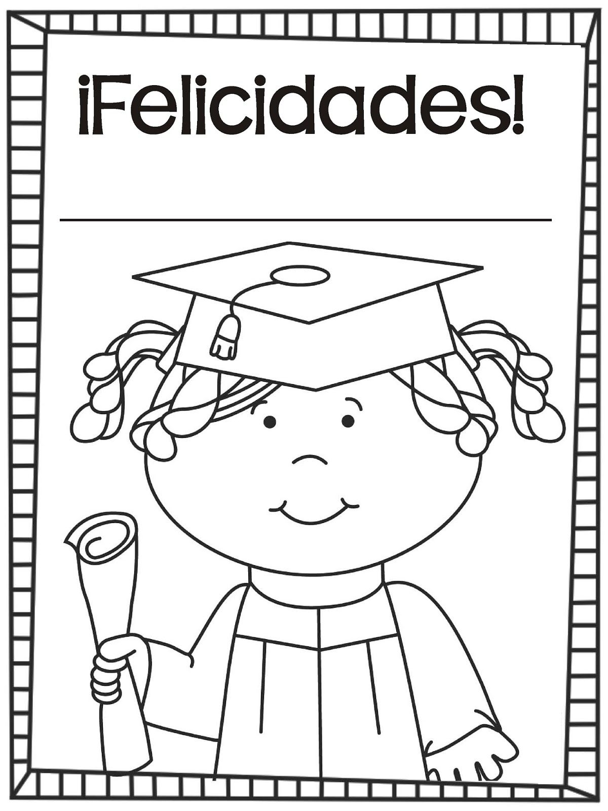 Graduación Hojas para colorear - De los tales | graduacion ...