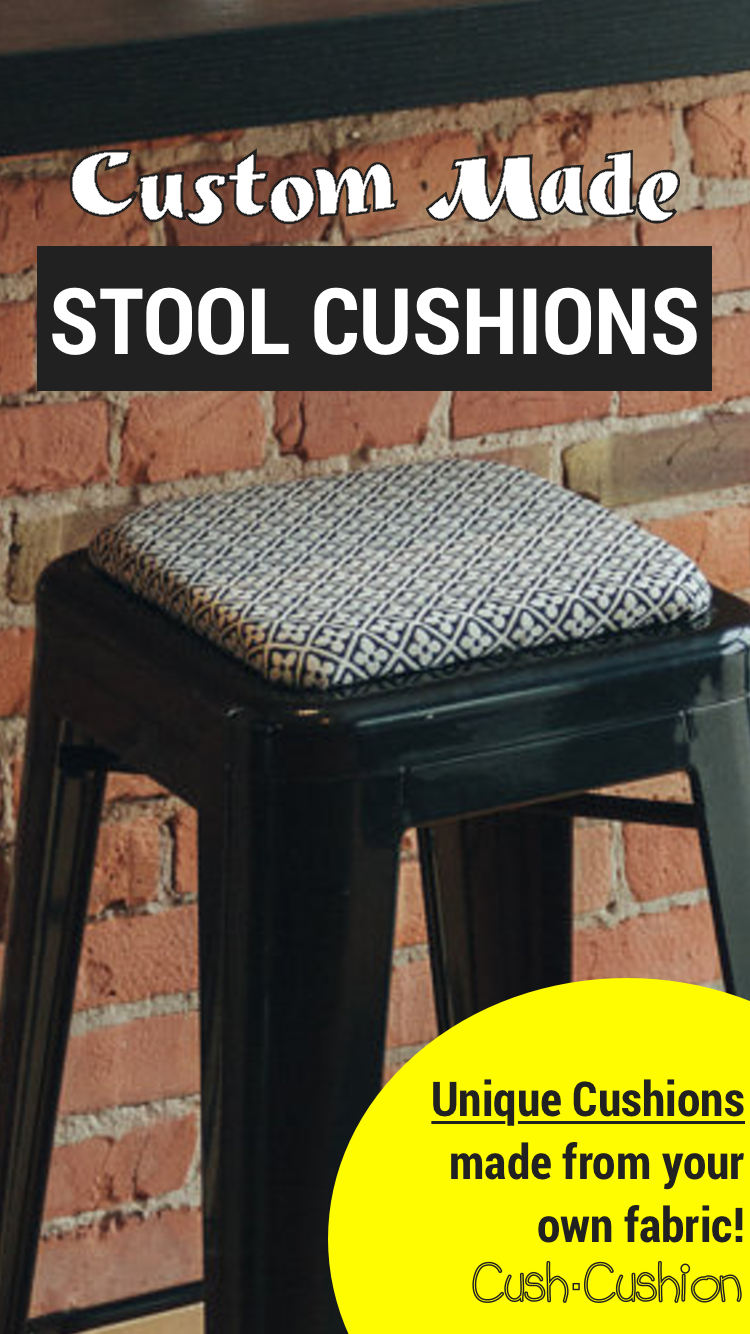 Custom Fabric Rounded Or Square Cushion For Metal Stools And Chairs Tolix Tabouret Adeco Memory Foam Interior Easy Installation Metal Stool Stool Cushions