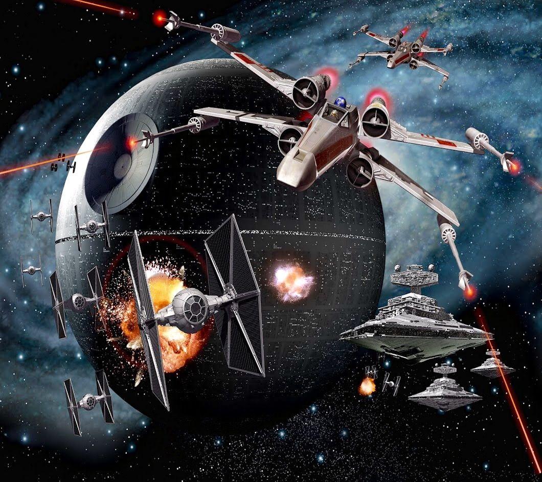 Space battle X-Wings