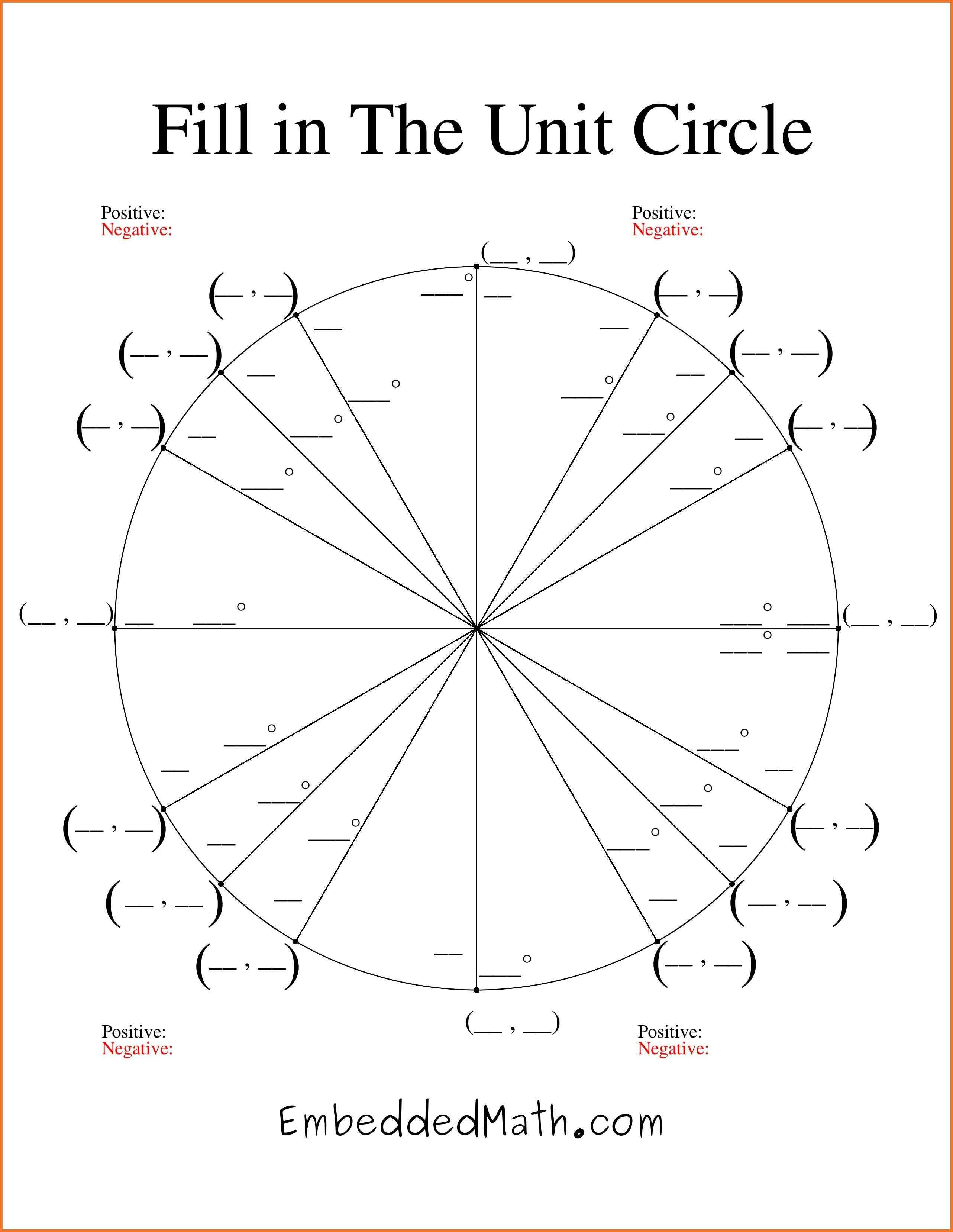 Best 3 Blank Unit Circle Printable Template With Images