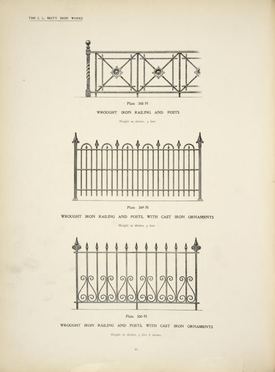 Wrought Iron Railing And Posts Wrought Iron Railing And Posts With Cast Iron Ornaments Details Cast Iron Railings Wrought Iron Fences Wrought Iron