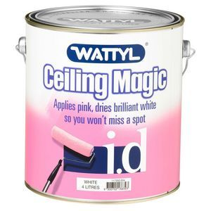 53 86 Wattyl I D Ceiling Magic White 4l Write The First Review 100 Acrylic Paint Colour Change Technology That Lies Pink And Dries Brilliant
