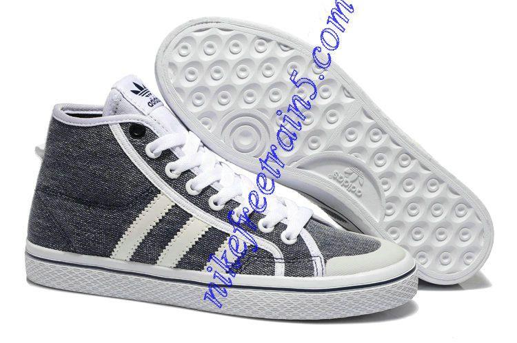 Venta al por mayor baratos ADIDAS HONEY Mid W q23316 rayas gris y blanco