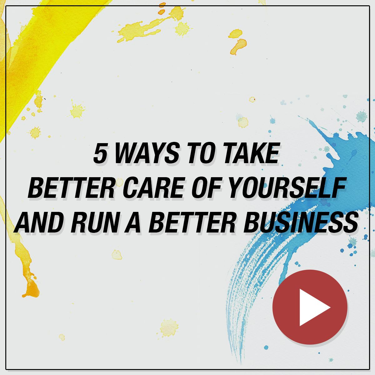 In this episode of Double Exposure Show, get our best (simple) tips for taking better care of yourself so you can run a better photography business!
