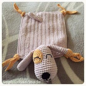 Schnuffeltuch gehäkelt - Hundi #crochetsecurityblanket