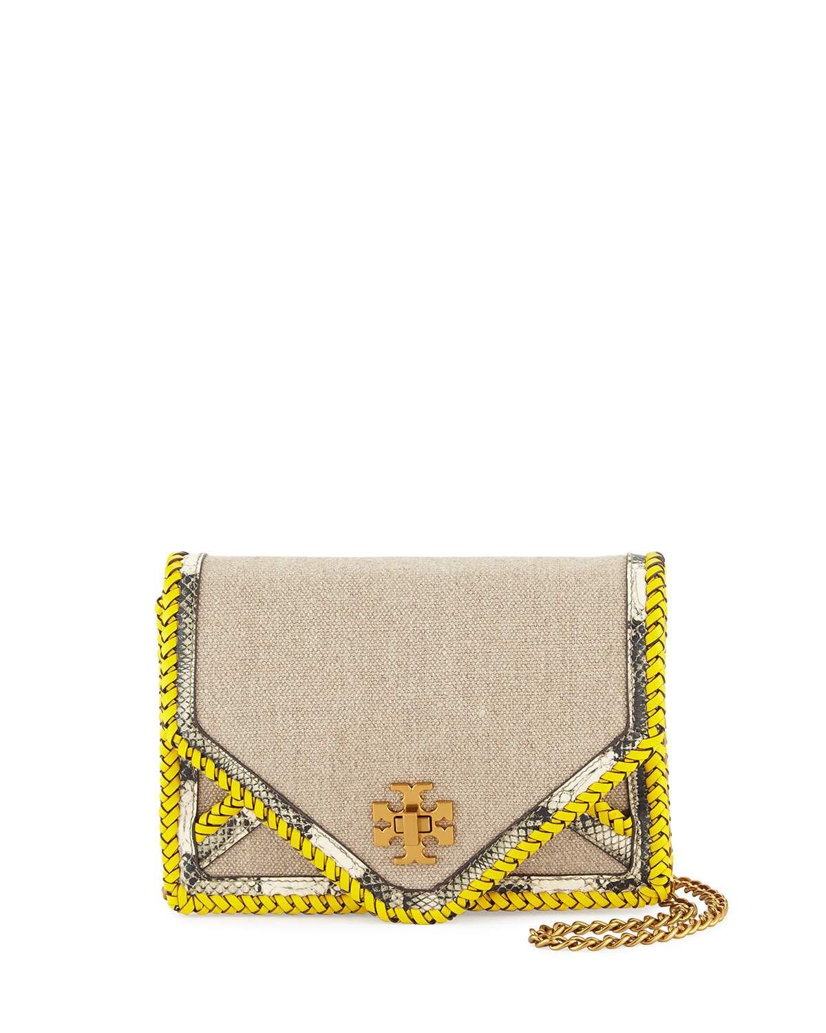 7c2668820c6 Tory Burch Kira Linen Braided Crossbody Bag
