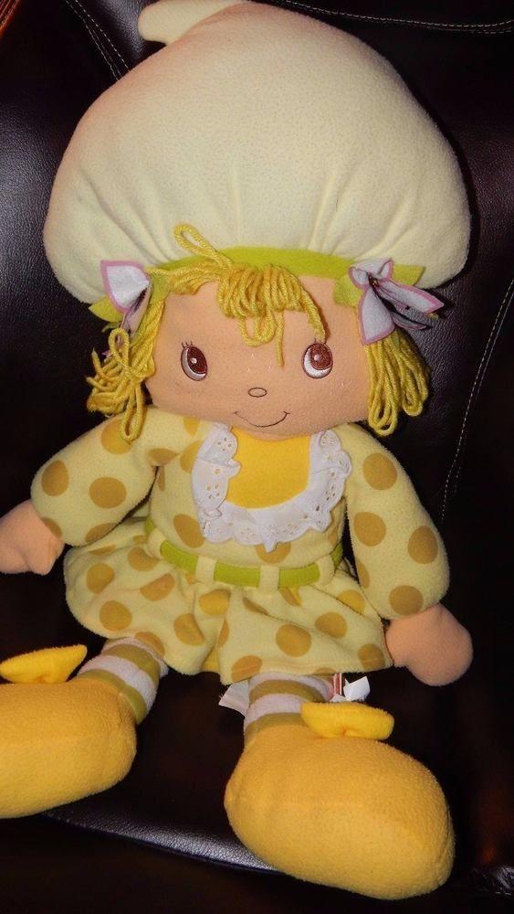 Strawberry Shortcake Lemon Meringue Jumbo Plush Pillow Doll Stuffed Animal  30