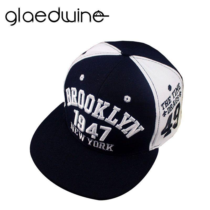 982e789b689 Glaedwine 1947 Brooklyn Style Baseball Cap Sport Hat Gorras Planas Snapback  New York Hip Hop Hats Snapbacks Casquette Polo Caps