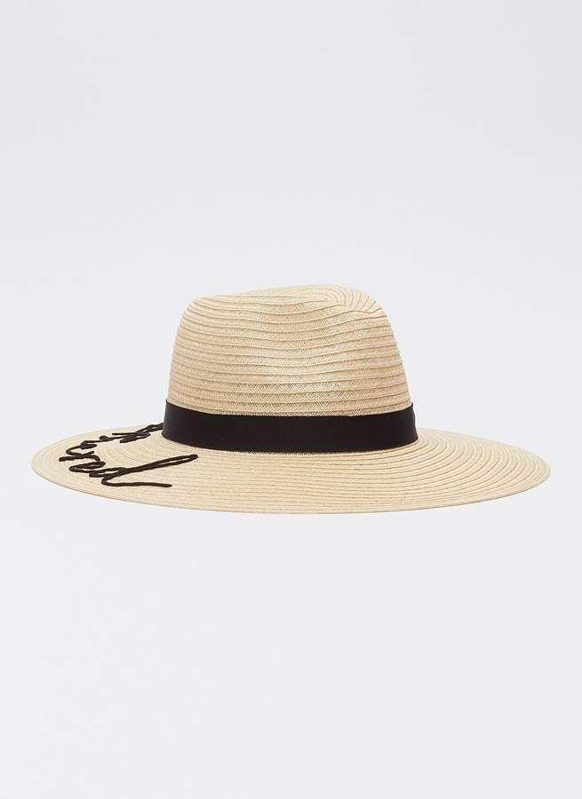 14849f438 Eugenia Kim 'Emmanuelle' cord slogan straw fedora hat | Swimwear for ...