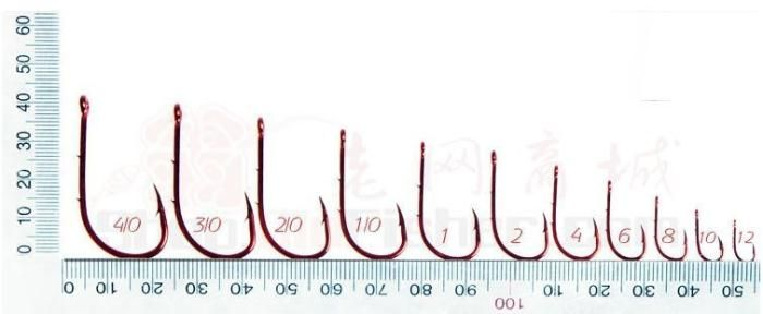 how to measure fish hook sizes