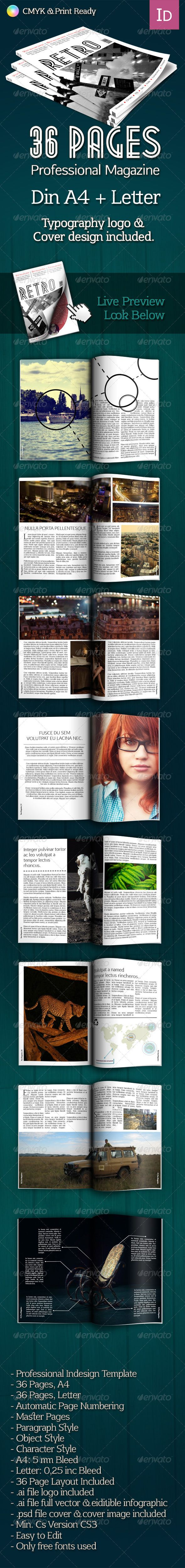 Retro Professional Clean Magazine Magazines Retro And Font Logo