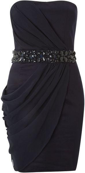 Ax Paris Jewelled Strapless Dress